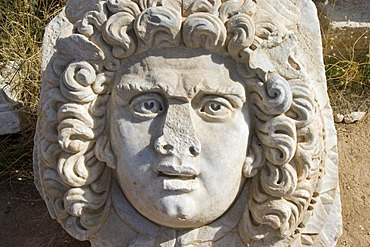 Head out of marble, new forum at Leptis Magna
