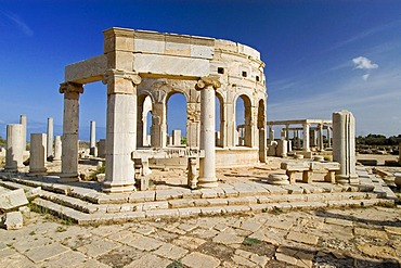 Roman market square at Leptis Magna