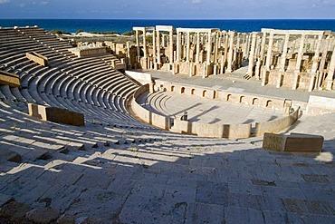 Roman theater of Leptis Magna, Libya, Unesco World Heritage Site