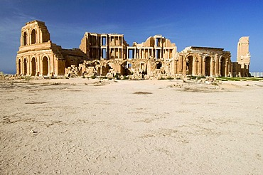 Roman theater in Sabrata, Libya