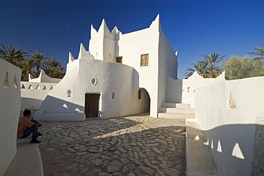 Renovated touareg house in the historc center of Ghadames, Ghadamis, Libya, Unesco world heritage site