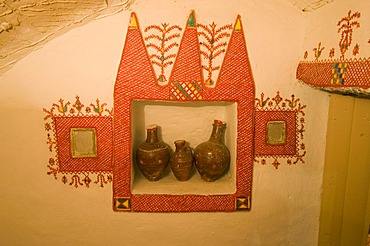 Living room of a traditional Tuareg house in Ghadames, Ghadamis, Unesco world heritage site, Libya