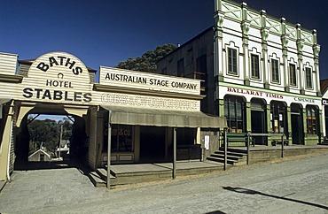 Main street in Sovereign Hill, Ballarat, Victorian Goldfields, Victoria, AUS