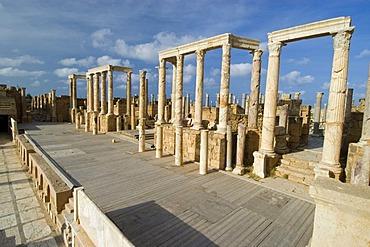 Roman theater of Leptis Magna, Unesco world heritage site, Libya