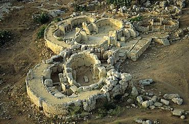 Mnajdra megalithic temple, Unesco World Heritage Site, Malta