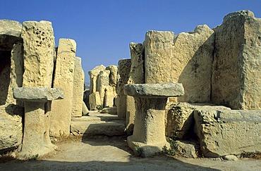 Megalithic temple of Mnajdra, Unesco World Heritage Site, Malta