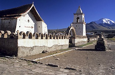 Historic altiplano church of Isluga, Isluga National Park, Chile