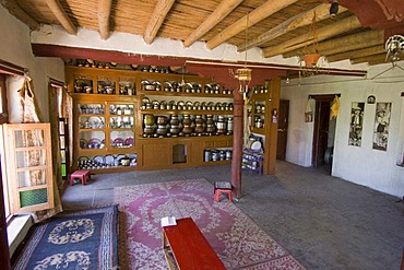 Traditional living room in a house in Ladakh, Jammu and Kashmir, India