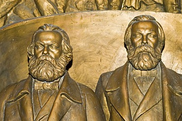 Karl Marx and Friedrich Engels at the National Museum of Bishkek, Kyrgyzstan