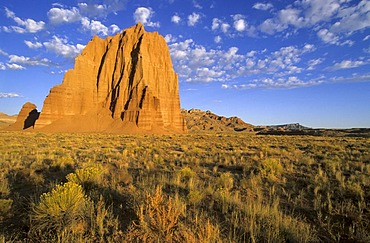 Rock formation at Cathedral Valley, Capitol Reef National Park, Utah, USA