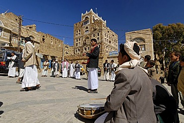 Wedding day in Thula, Yemen