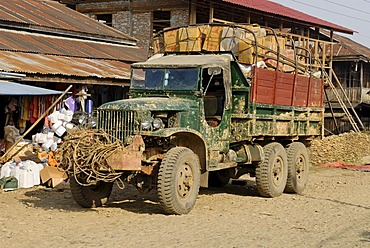 Old truck in Putao, Kachin State, Myanmar