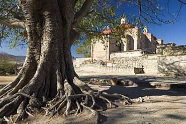 Church in the archeological site of Mitla, Lyobaa, Oaxaca, Mexico