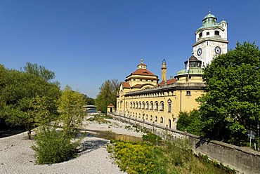 Muellersches Volksbad at the Isar river, Munich, Bavaria, Germany