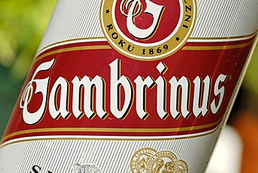 Czech beer can, Gambrinus beer from the Czech Republic