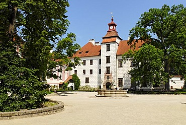 Historic old town of Trebon, Bohemia, Czech Republic