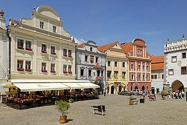 Historic old town of Cesky Krumlov, Bohemia, Czech Republic