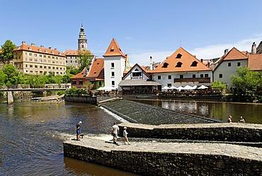 Schwarzenberg castle, historic old town of Cesky Krumlov, Bohemia, Czech Republic