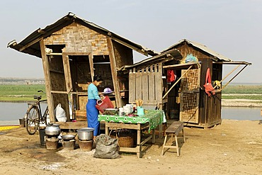 Cookshop in the harbour of Bhamo, Kachin State, Myanmar