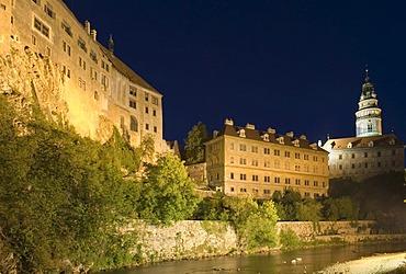 Schwarzenberg castle, historic old town of Cesky Krumlov, south Bohemia, Czech Republic