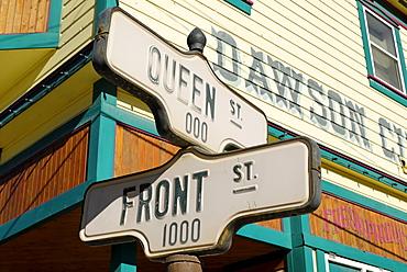 Street sign at Dawson City, Yukon, Canada