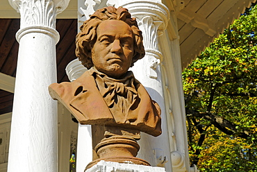 Beethoven statue, Frantiskovy Lazne Spa, Franzensbad, west Bohemia, Czech Republik