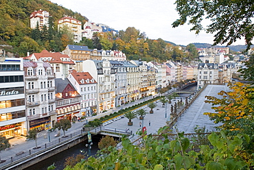 Historic old town of Karlsbad, Carlsbad, Karlovy Vary, west Bohemia, Czech republic