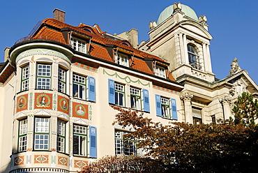 Historic villa at Schwabing, Munich, Bavaria, Germany