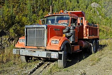 Old mining truck, Dawson City, Yukon Territory, Canada