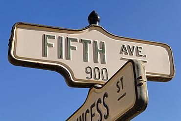 Fifth Avenue sign, Dawson City, Yukon Territory, Canada