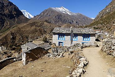 Thamo Sherpa village, Sagarmatha National Park, Khumbu, Nepal