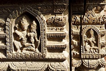 Wood carving, Durbar Square of Patan, Lalitpur, Kathmandu, Nepal