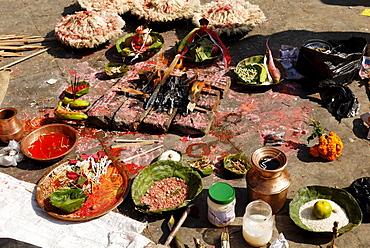 Traditional sacifice at Kumbeshwar Temple, Patan, Lalitpur, Kathmandu, Nepal