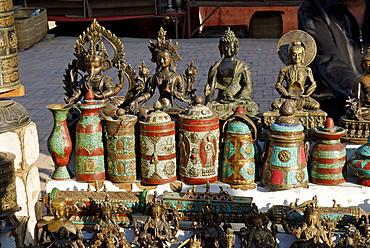 Tourist market at Bhaktapur, Kathmandu valley, Nepal