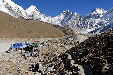 Gorak Shep Sherpa village, Khumbu Himal, Sagarmatha National Park, Nepal