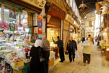 Suk, bazar in the old town of Damascus, Syria