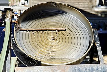 Spiral machine for gold washing, Dawson City, Yukon Territory, Canada