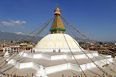 Buddhist stupa of Bodhnath (Boudha), Kathmandu, Nepal
