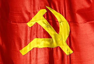 Flag with hammer and sickle, Vietnam