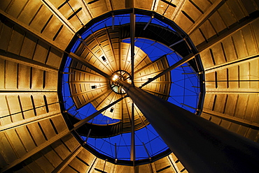 Observation tower, lit from underneath, Stuttgart, Baden-Wuerttemberg, Germany, Europe