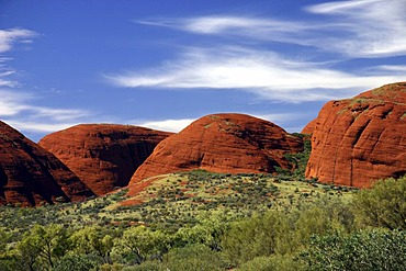 Rockformation Olgas (Kata Tjuta), Outback, Northern Territory, Australia ***RESTRICTION: Usage: travel catalogue, Industry: Travel and Tourism, Territories: Switzerland, Duration: 1 year, Start date: March 2011, End date: April 2012***