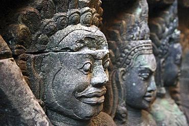 Relief of Apsara temple dancers, Angkor Thom, Siam Reap, Cambodia