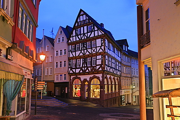 Half-timbered house, Eisenmarkt in the historic centre of Wetzlar, Hesse, Germany