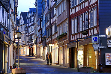 Half-timbered houses in the historic centre of Wetzlar, Hesse, Germany