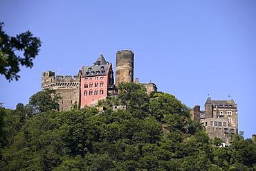 Schoenburg Castle, Oberwesel, Rhineland-Palatinate, Germany, Europe