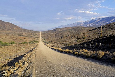 Road gravel road in South Africa