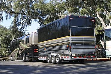 Luxury RV with three axel trailer, Coach, USA