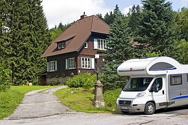Refuge, motorhome, Giant Mountains, Czechia