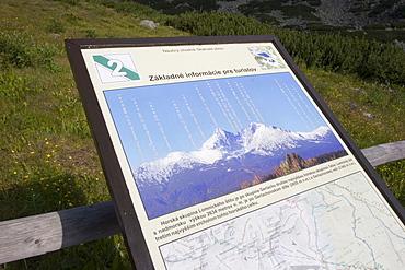 Information panel of the summits, Slovakia