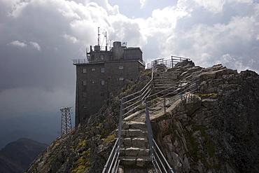 Ropeway station on the Lomnick? oetit mountain, 2634 m, High Tatras, Slovakia